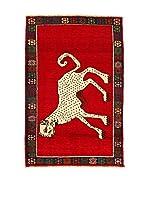 Kilim Carpets by Jalal Alfombra Gashgai (Rojo/Azul)