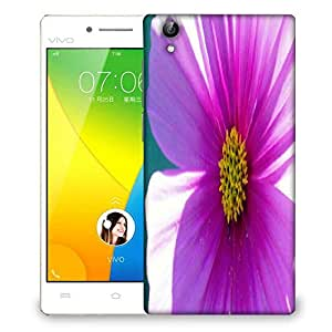 Snoogg Simple Flower Designer Protective Phone Back Case Cover For VIVO Y51 L