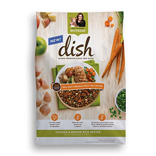 Rachael Ray Nutrish DISH Natural Dry Dog Food, Chicken & Brown Rice Recipe with Veggies & Fruit, 3.75lbs (Nutrish Dog Food compare prices)