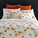 Vera Wang Orange Blossom Duvet Cover Set, Coral, Queen