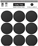 """Chalky Talky 36 Wide Mouth Mason Jar Reusable Chalkboard Labels - 2.5"""" Fit Ball, Kerr, Canning Lids"""