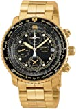 Seiko Men's SNA414 Flight Alarm Chronograph Watch