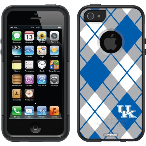 Great Sale University of Kentucky - Argyle design on a Black OtterBox® Commuter Series® Case for iPhone 5s / 5
