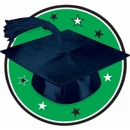 Congrats Grad Green Graduation Cutout