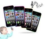MWS2479 171769 Teléfono móvil infantil para niño y niña con diferentes sonidos y melodías (VERDE)