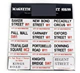 London Street Signs Fridge Magents 2.6cm X 4.4cm 12/Pack