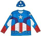 マーベル キャプテンアメリカ 長袖 Tシャツ セット コスチューム メンズ フリーサイズ 95069
