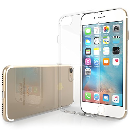 iPhone 7 Case, by Yousave Accessories [0.5mm] Ultra Thin & Lightweight Soft Flexible [TPU Crystal Clear] Protective Cover - Exact Fit for iPhone 7 (2016 Model)
