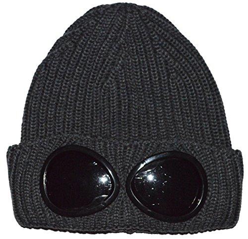 C.P. Company Grey Goggle Beanie Wool Hat One Size