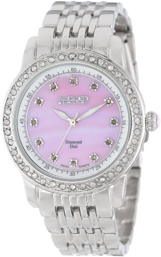 August Steiner Women's 35mm Pink Metal Metal Case Mineral Glass Watch AS8045PK