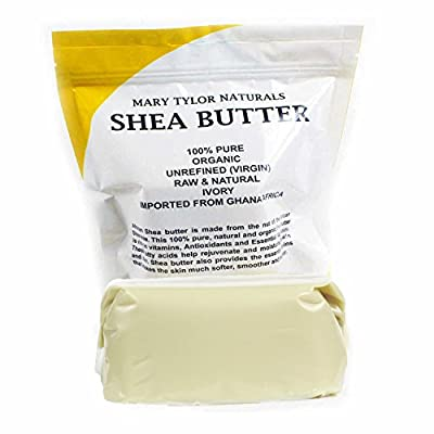 Organic Unrefined Raw Ivory Shea Butter By Mary Tylor Naturals 1 Lb (16 Oz) Grade A. Amazing Quality Unrefined Shea Butter!