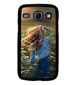 Printvisa Girl Admiring Sunshine Back Case Cover for Samsung Galaxy Core i8262::Samsung Galaxy Core i8260