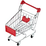 Niceeshop(Tm) Mini Supermarket Handcart Shopping Utility Cart Mode Desk Storage Toy,Red