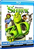 DreamWorks Shrek 3D Blu-ray The Complete Collection 4 Discs