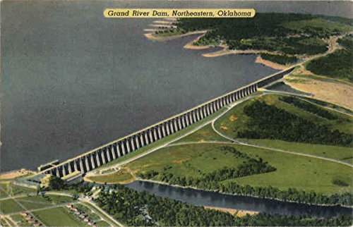 Grand River Dam Northeastern, Ok Original Vintage Postcard