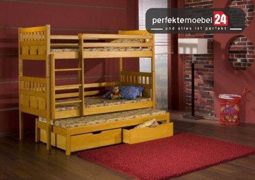 MAX Hochbett inkl. LATTENROST und MATRATZE Kinderbett Etagenbett Spielbett Massiv Kiefer Öko-Lack Bett