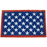 """Rubber-Cal """"Red, White and Blue"""" Patriotic Door Mat, 18 by 30-Inch"""