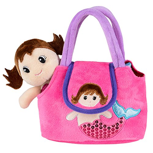 Take Along Plush Mermaid Doll with Tote