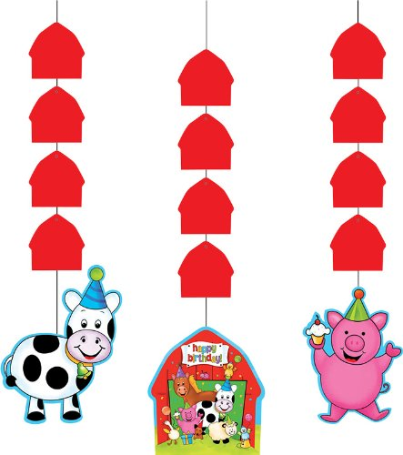 Creative Converting Barnyard Bash Hanging Cutout Decorations