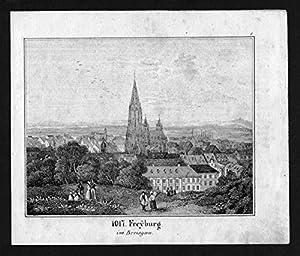 Freiburg im Breisgau Lithographie Lithograph
