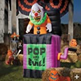HALLOWEEN ANIMATED INFLATABLE 7' SCARY JACK IN THE BOX POP GOES THE EVIL