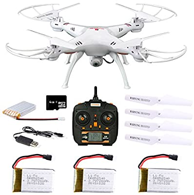 Dynamic Aerial Systems X4 Spartan 2.4GHz 4CH 6-Axis Gyro RC Quadcopter Drone with 2MP Camera & Large LED Lights with 3 Additional Extended Batteries from Dynamic Aerial Systems