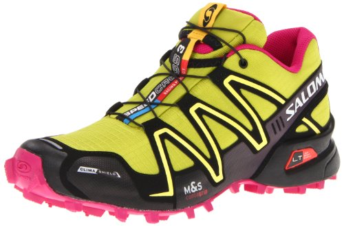 Salomon Women's Speedcross 3 CS Trail Running Shoe,Green/Black/Fancy Pink,8.5 M US