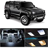 LEDpartsNow Hummer H3 2005-2010 Xenon White Premium LED Interior Lights Package Kit (15 Pieces)
