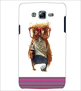 PrintDhaba Owl D-5787 Back Case Cover for SAMSUNG GALAXY J7 (Multi-Coloured)