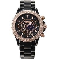 [ケイエブロス]K&BROS 腕時計 ICE TIME アイスタイム 9553-1B/B/S クロノグラフ ブラック YYYY11619 【正規輸入品】