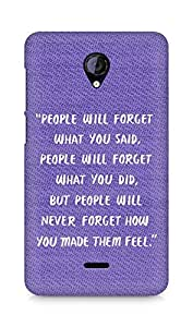 AMEZ people will forget what you said did Back Cover For Micromax Unite 2 A106