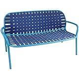 emu Yard 2-Sitzer-Sofa, blau Gestell blau LxBxH 139x84x77cm