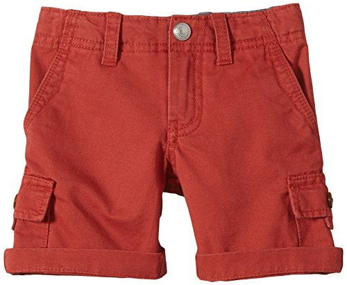 Quiksilver, Pantaloni corti cargo Bambino Everyday, Rosso (Baked Apple), 2 anni