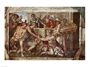 Sistine Chapel Ceiling Noah After Flood Poster Michelangelo Buonarroti (24 x 18)