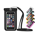 ✪ LIFETIME WARRANTY ✪ YOSH® Universal Waterproof Case Bag for Apple iPhone 6s, 6 Plus, Samsung Galaxy S6 Edge. Best Water Proof, Dust Dirt Proof, Snowproof Pouch for Cell Phone up to 6 inches(Black)