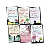 Erica James 6 Books Collection Pack Set RRP: £41.94 (Airs and Graces, A Breath of Fresh Air, Paradise House, Tell It To The Skies, The Queen of New Beginnings, Hidden Talents) Erica James