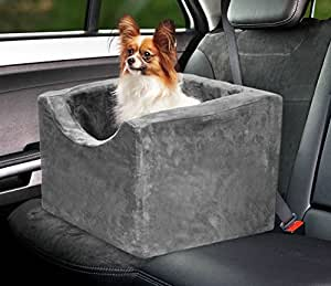 Precious Tails Gray Pet Booster Car Seat
