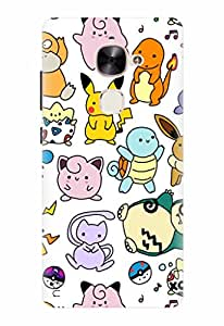 Noise Designer Printed Case / Cover for LeEco Le 2 / Animated Cartoons / Pokemon Doodles Design