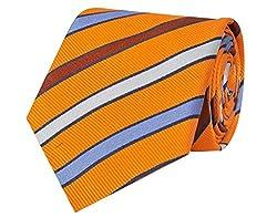 Tiekart Striped Men'S Tie (Ws378_Orange)