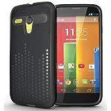 TUDIA Ultra Slim Melody TPU Bumper Protective Case for Motorola Moto G SmartPhone (Black)
