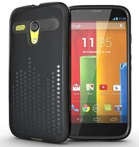 TUDIA Ultra Slim Melody TPU Bumper Protective Case for Motorola Moto G SmartPhone (2013 1st Gen Only) (Black)
