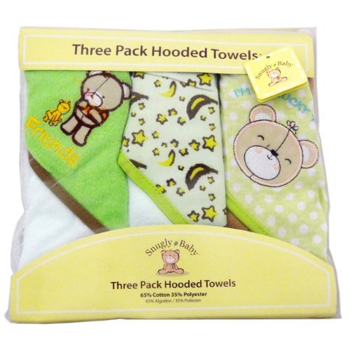 Snugly Baby 3 Pack Hooded Towels Unisex