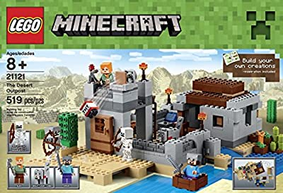 LEGO Minecraft 21121 the Desert Outpost Building Kit from LEGO
