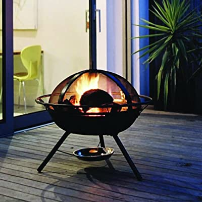 Hotspot - Safe Guard Fire Pit - Charcoal Garden Heater - Cast Iron Black by Hotspot