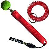 Dogsline Target Stick mit keyfix Spiralarmband für Erziehung Ausbildung und Training , Edelstahl 17-73cm rot , DL16TSS