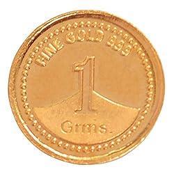 A.Himanshu 1 gm, 24k (999) Yellow Gold Precious Coin