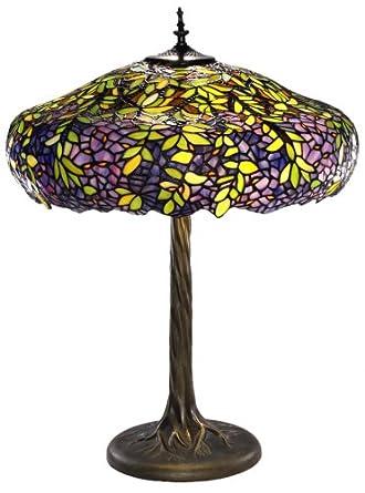 labumum tree tiffany style table lamp. Black Bedroom Furniture Sets. Home Design Ideas