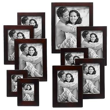 Linear Wood 10-pc. Frame Set - Walnut
