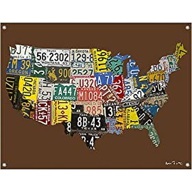 Usa Map License Plates