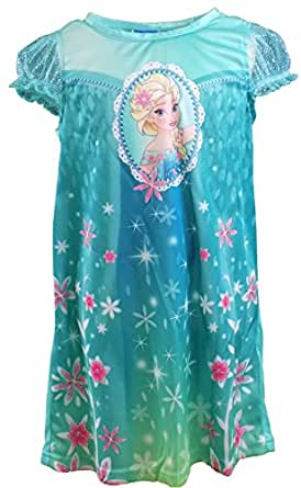 Disney Little Girls' Frozen Poly Nightgown Green